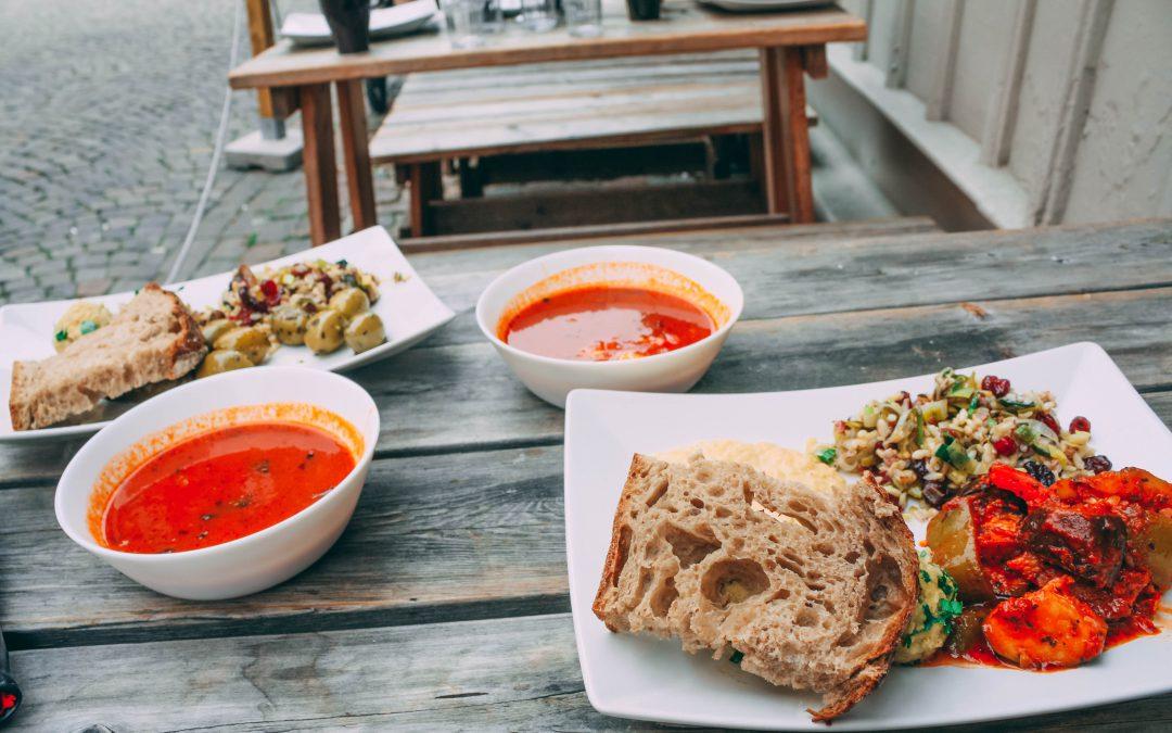 Mittagsangebot im Hummus-Paradies in Göteborg