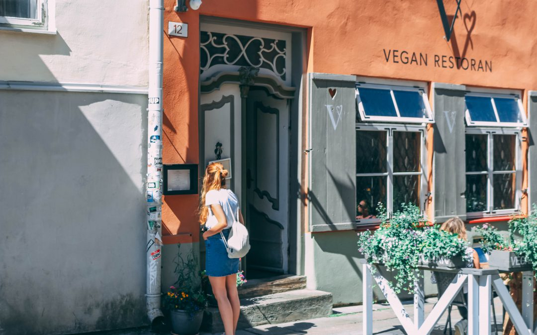Veganer Mandelkuchen in Tallinn